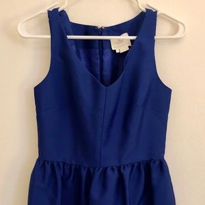 Kate Spade Silk Cocktail Dress Royal Blue